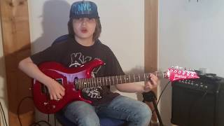 "Dustin Tomsen 12 years old covers Joe Bonamassa ""Blue and Evil"""