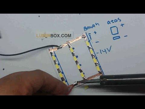 Video Cara buat Lampu LED Plafon Mobil part 2
