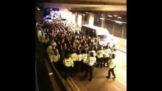 preview picture of video 'Birmingham V West Ham 12/12/2009 - football hooligans and violence'