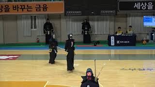 2019 단별검도대회 남자 3단부 128강 - 최용빈 vs 강배훈 [검도V] kendov