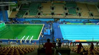 Here's How The Olympic Pool Turned Green