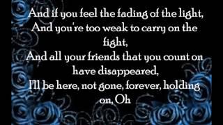 I won't let you go [lyrics]