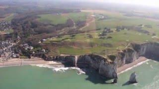 Survol des Falaises d'Etretat en Hélicoptère