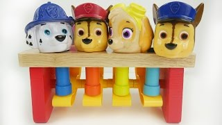 Peg pouding bench with paw patrol