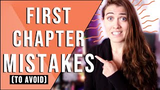 FIRST CHAPTER MISTAKES NEW WRITERS MAKE ✖️ how to write the first chapter in your book