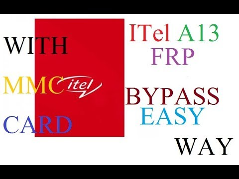 ITel A13 FRP EASY BYPASS WAY BY (Siddique Tech) - Siddique