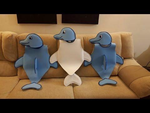 Cómo hacer disfraz de delfín para niños, fácil y barato, goma Eva o tela. Cosplay Dolphin.