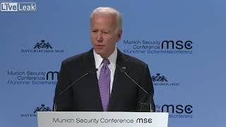 Biden in Europe: America Today Is 'an Embarrassment'