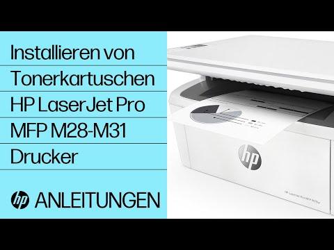 Installieren von Tonerkartuschen bei HP LaserJet Pro MFP M28-M31 Druckern