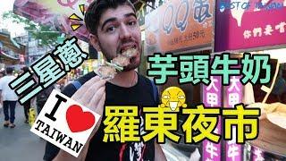 第一次逛羅東夜市,必吃美食特輯,找到最愛的臭豆腐 - (老外瘋台灣)
