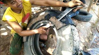 patch a torn truck tire