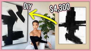 DIY Dupe For $4,300 Artwork! + Home Decor Updates!