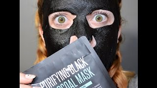 How To & Review of the Charcoal Sheet Mask!!