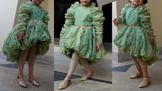 Diy  Baby Girl Party Wear Princess Frock Cutting And Stitching Full tutorial