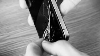 Снимаем защитное стекло с iPhone 4S