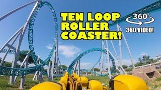 Altair 10 Loop Roller Coaster VR 360 POV Cinecitta World Italy #rollercoaster #rollercosterpov