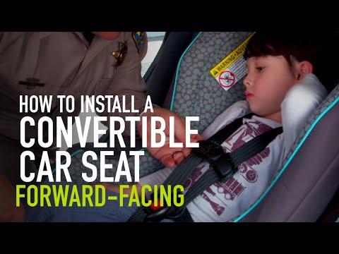 Convertible car seat installation: Forward-facing