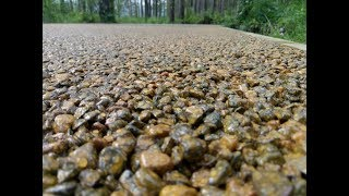 Дорожка из дренажного бетона