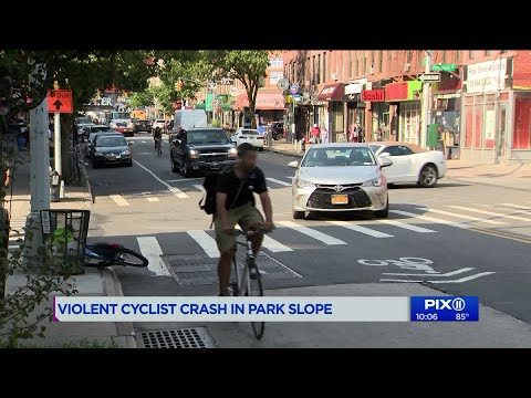 Nearly number 16: Video captures near death bicycle crash in Park Slope