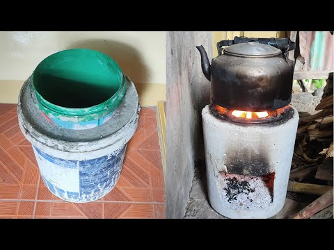 CEMENT ROCKET STOVE FOR WOOD |  KALAN DE KAHOY - VERY EASY -MAKE YOUR OWN CEMENT STOVE @ HOME - DIY