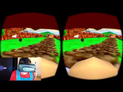 Man Plays Mario 64 On The Oculus Rift, Dressed As Mario
