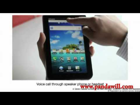 Samsung Galaxy Tab P1000 Android 2.2 Capacitive Screen 3G SMS GPS 7 Inch Monster Mobile Phone