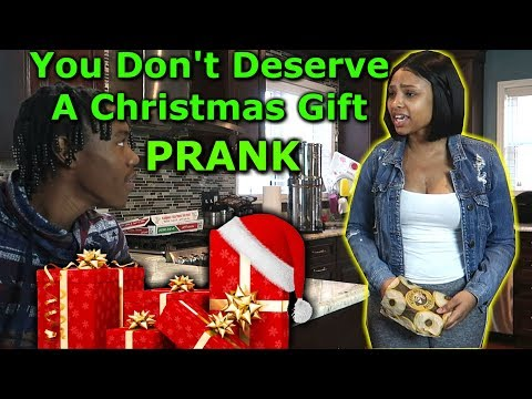 You Don't Deserve A Christmas Gift PRANK ON GIRLFRIEND
