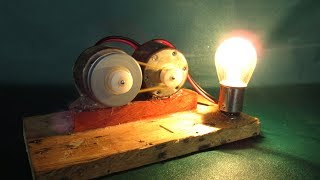How To Make Free Energy Generator DC Motor With Light Bulbs - Free Light Experiments At Home
