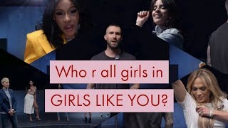 26 Women Celebrities In Maroon 5   Girls Like You Ft. Cardi B Volume 2