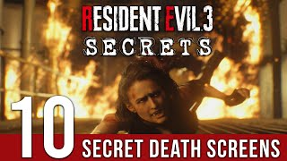 10 SECRET DEATH SCREENS You May Have Missed In Resident Evil 3 Remake | SPOILERS
