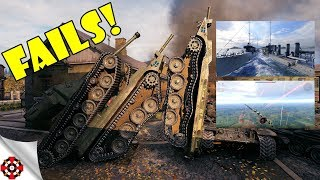 ARMORED FAILS - Funny & Epic Moments from WOT, WOWS, WT! (July 2018)