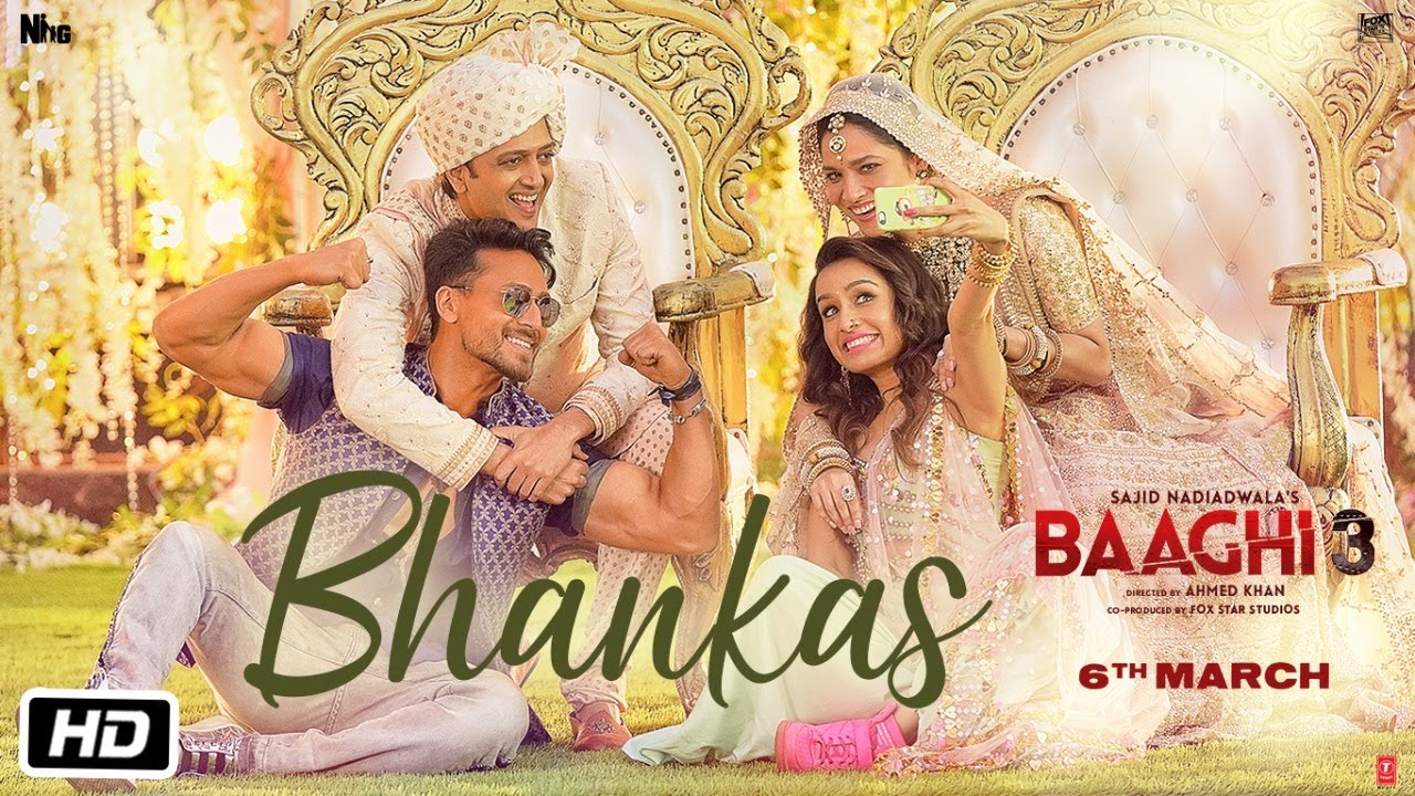 भंकस Bhankas Lyrics in Hindi - Baaghi 3 - Bappi Lahiri, Dev Negi, Jonita Gandhi