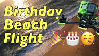 Beginner FPV - Birthday beach flight