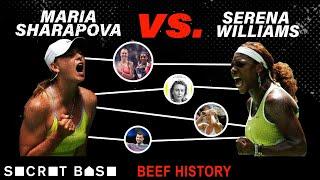 The Serena vs Sharapova beef involves boyfriend rumors, odd book quotes, and a very lopsided rivalry