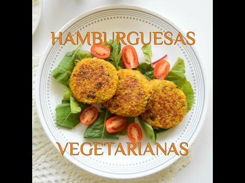 Hamburguesas vegetarianas de quinoa y coliflor