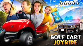 GTA on a GOLF CART!  Risking Lives for Salt & Vinegar Chips! (FV Family Isle of Palms Vlog)