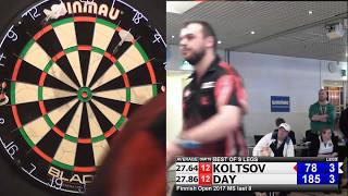 Finnish Open 2017 Mens singles, last 8, Koltsov vs Day
