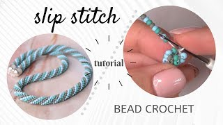 Bead Crochet Tutorial | Slip Stitch Bead Crochet Tutorial | How To Bead Crochet