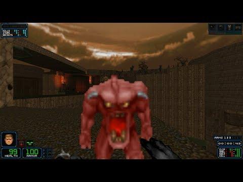 Doom II Custom Maps - MAP01: Drop Zone - смотреть онлайн на Hah Life