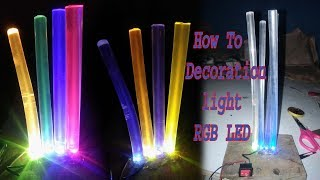 How to making Decoration light With Glue Stick