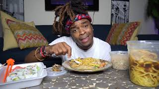 SQUID, FRIED RICE AND BEAN NOODLE MUKBANG| FUNNY