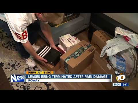 Leases being terminated after rain damage in Poway