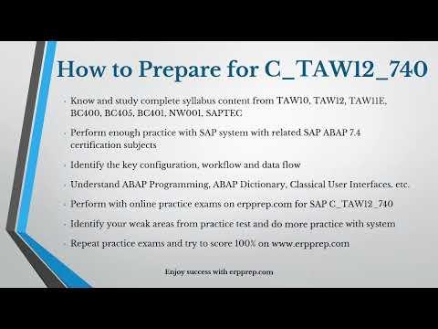 Best Tricks to Prepare for SAP ABAP (C_TAW12_740) Certification ...