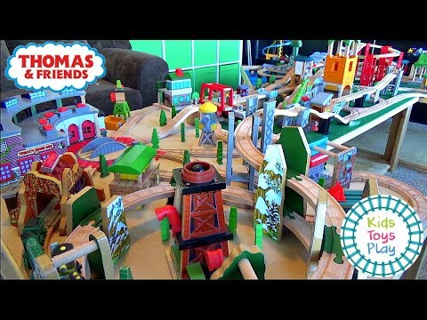Thomas and Friends Wooden Railway | Biggest Wooden Train Track Setup Ever | Toy Trains for Kids