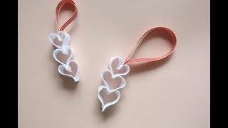 How To Make A Felt Heart Ornament Tutorial