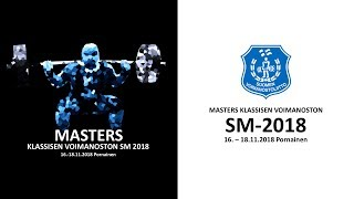Masters klassisen voimanoston SM-2018 - M40 74-93kg