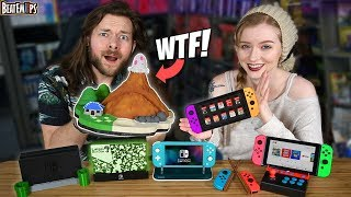 I Buy My Girlfriend WEIRD & COOL Nintendo Switch Accessories!