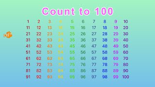 Count Numbers 1 to 100 | Count to 100 in English | Kids Learning Vide