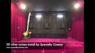 3D silver cinema screen installation