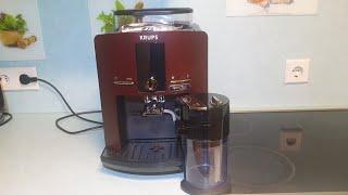 KRUPS EA82 öffnen reinigen brühkolben, sieb, kaffeeauslauf mahlwerk / open repair
